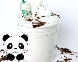 Vanilla Bean Frappuccino Butter Slime Made With Daiso Clay Starbucks Charm