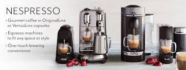 Nespresso Espresso Machines To Fit Any Space Or Style Gourmet Coffee In VertuoLine