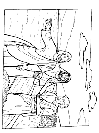 Jesus And His Disciples Coloring Pages AZ