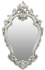 casa padrino barock spiegel silber 65 x h 105 cm prunkvoller wandspiegel im barockstil garderoben spiegel wohnzimmer spiegel barock möbel