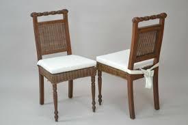 2 x rattanstühle massivholz braun gebeizt lackiert rattanstuhl stühle esszimmer