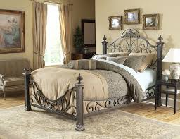 Bedroom Design Metal Bedframes Wrought Iron King Bed White Iron