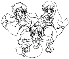 Mermaid Melody Pichi Pitch Coloring Book