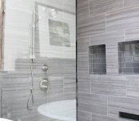 tips for grouting a ceiling open walk in shower subway tiles gl