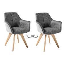 esszimmer kombination 7 tlg amsterdam 119 eiche massivholztisch sitzschalen aus kunstleder antik grau hellgrau