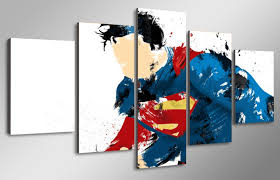 5 Panel Superman DC Comics Canvas Wall Art
