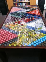 Bottle Cap Table | Artsy Fartsy DIY | Pinterest | Bottle Cap Table ... The Best 28 Images Of How To Make A Bottle Cap Bar Top Virginia Tech Beer Cap Table Timelapse Youtube 25 Diy Bottle Lamps Decor Ideas That Will Add Uniqueness To Your Bar Stools Red Industrial Vibe Man Collects Caps For 5 Years Redo His Kitchen And Unique Ideas On Pinterest Art Homebrewing Fishing Beer W Epoxy Keezer Lid Coffee Rascalartsnyc How Bead Beautiful Tops 45 Cheap Outdoor Top Home