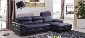 canapé d angle lit canapé noir en cuir en stock a prix bas