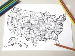 Coloring Map Usa United States America Book By LaSoffittaDiSte