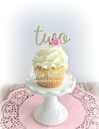 Zwei Geburtstag Kuchen Topper Zweite Geburtstagskind Cupcake