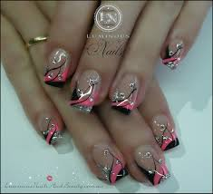 White Nails Top Black And White Nail Tip Designs Design For A