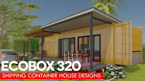 100 Homes From Shipping Containers Floor Plans Container House Designs With Plans For Modern ECOBOX 320