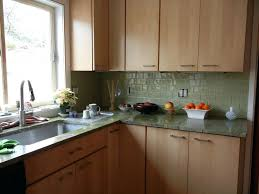 tiles green backsplash tile up of green orange and