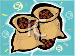 Bags Of Coffee Beans Clipart Image