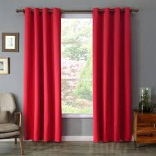 Burgundy Grommet Blackout Curtains by Blackout Curtains Red All Seasons Faux Silk Blackout Curtains