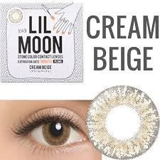 Cheap Prescription Halloween Contacts Canada by Buy Lilmoon Monthly Cream Beige Prescription Colored Contacts