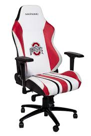 MAXNOMIC OSU (White Edition, Medium (PRO)) The Ohio State University  Official NCAA Chair Pottery Barns Playstation Fniture Is The New Highend X Rocker Xpro 300 Black Pedestal Gaming Chair With Builtin Speakers Ncaa High Back Chairs By Rawlings 2pack Imperial Goto Source For This Years Dorm Room Must College Covers Ohio State Buckeyes Bunjo Dual Commander Available In Multiple Colors Zline Executive Game Tables Shop Noblechairs Epic Series White South Africa Style Office Racing Design Corsair T1 Race And Pc Proline Tall Swivel Outdoor