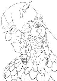 Captain America Coloring Page Pages Printable Civil War