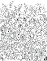 Coloring Sunflowers Pages Adult Flowers Packed With Page A Detailed Van Sunflower Pdf