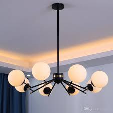 großhandel 2020 led moderne glaskugel kronleuchter wohnzimmer küche schlafzimmer minimalist lange hängende kronleuchter glanz beleuchtung jess135