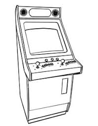Amusing Game Coloring Pages Printable Arcade Video Games Page From FreshColoringcom