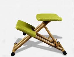 Ergonomic Office Kneeling Chair For Computer Comfort by Ergonomically Designed Kneeling Chair Green Fabric Cushion Modern