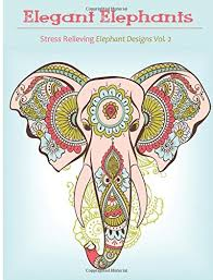 Amazon Elegant Elephant Coloring Book Books For Grownup Featuring Designs Adults