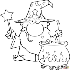 Large Size Of Coloring Pagemagic Page Magic Wizard Waving With Wand