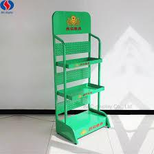 3 Tiers Floor Standing Beer Metal Display Stand With Shelf