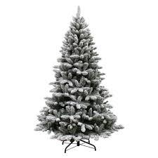 Unlit Artificial Christmas Trees Sears by Jaclyn Smith 7 U0027 Flocked Colorado Pine Tree
