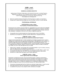 Resume Sample For Banking