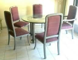 details zu esszimmer 4 stühle 1 lehnstuhl glastisch rund holz landhaus hellblau