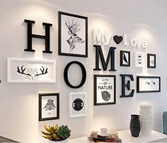 muzidp massivholz fotowand kreativ foto rahmen wand bild rahmen collage für wohnzimmer restaurant hintergrundwand b