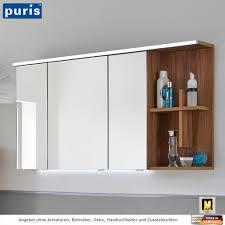 puris purefaction led spiegelschrank 120 cm regal mit kreuz rechts