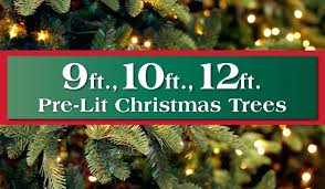 10 Ft Artificial Christmas Trees 9 To Lit Long Island Queens Tree Unlit