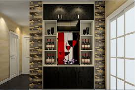 Nice Dining Room Cabinet Designs 25 3d House Design Wine Home