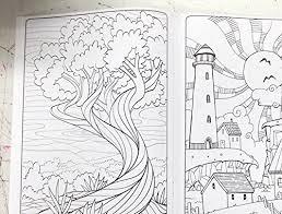 Adult Coloring Book Set Nature Patterns Henna And Mandalas 4 Books