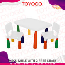 Toyogo Children Table With Free 2 Chair (462F) W21