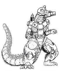 Download Coloring Pages Godzilla Kids To Print