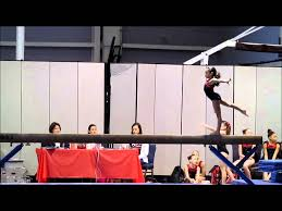 mia the gymnast new usag beam routine level 3 youtube