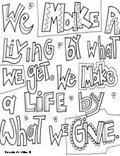 Free Printable Kindness Quotes Coloring Pages From Doodle Art Alley