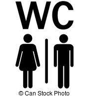 illustration de stock de toilettes femmes wc signe