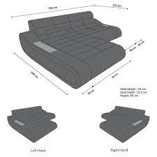 Design Fabric Sofa Concept L Short