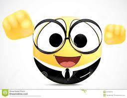 smiley bureau confidence office worker emoticon stock vector illustration of