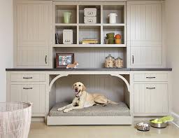 Mudroom With Built In Dog Bed