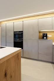 küche in beton kombiniert mit holz laserer tischlerei