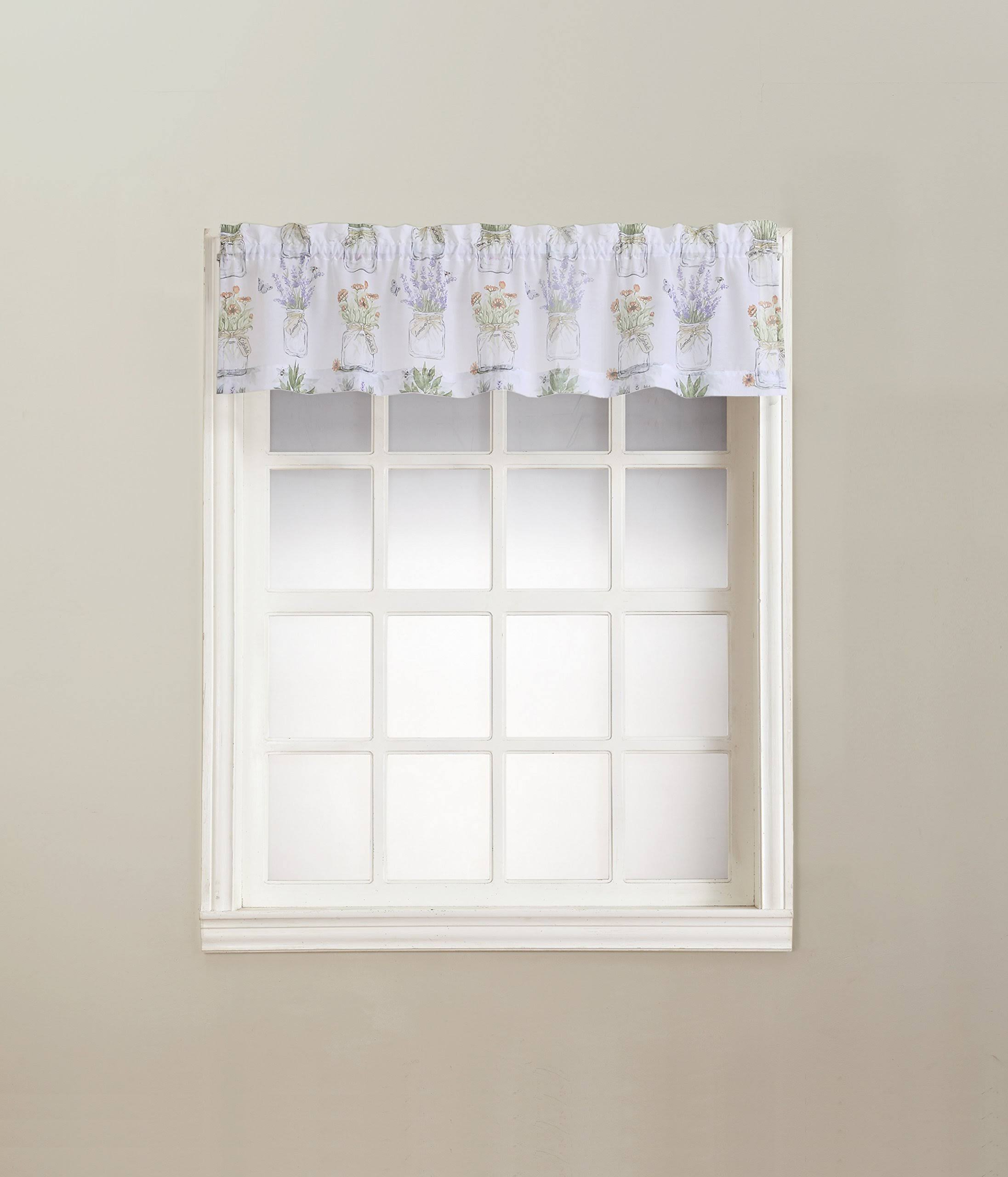 No. 918 Eves Garden Kitchen Curtain Valance, Size: 54x14, White