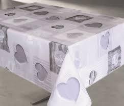nappe toile ciree au metre nappe pvc sur mesure toile cirée imprimée tendresse gris