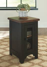 Ashley Valebeck Black/Brown Chair Side End Table Signature Design By Ashley Veldar Chair Side End Table T7487 Quickship Designs Chairside Breegin Realyn Whitebrown Carlyle Fniture Royard In Brown Braunsen With Magazine Rack Usb Ports Outlets Rowenbeck Laflorn Power Pullout Shelf At Household Rafferty Dark Cross Island Medium