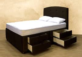 Queen Size Bed With Drawers Custom Tiered que Frames